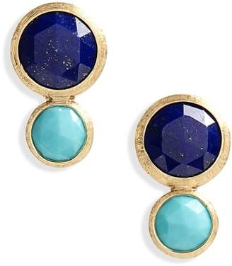 Marco Bicego Jaipur Lapis & Turquoise Stud Earrings