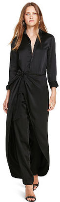 Polo Ralph Lauren Silk Satin Jumpsuit $498 thestylecure.com