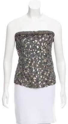 Donna Karan Embellished Strapless Top
