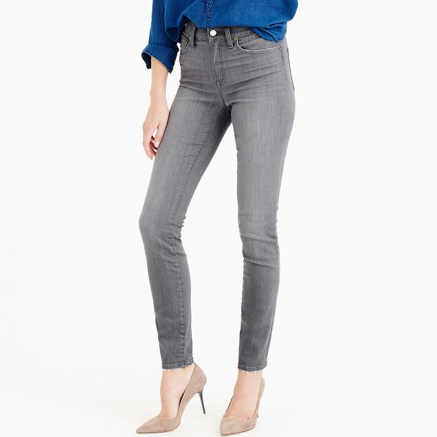 "J.Crew 9"" Lookout High-Rise Jean In Grey"
