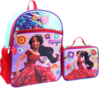 Disney Kids Girls) Elena Avalor Backpack and Detachable Lunch Pack