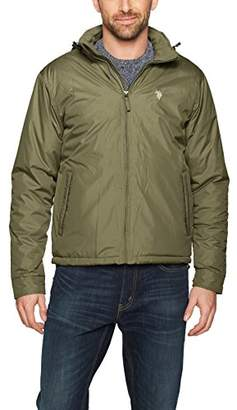 U.S. Polo Assn. Men's Standard Fleece Lined Pu Piped Jacket
