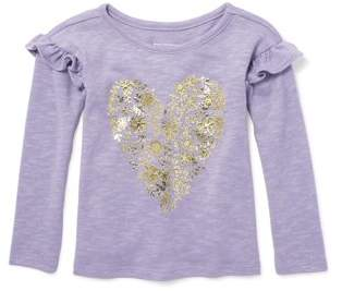 Children's Place The Long Sleeve Ruffle Sleeve Sweater Knit Top (Toddler Girls)