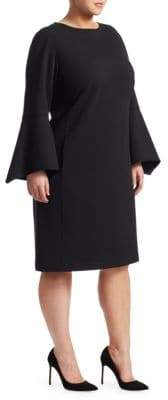Lafayette 148 New York Lafayette 148 New York, Plus Size Paloma Flared Sleeve Pocket Dress