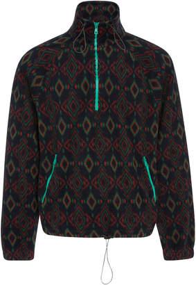 Lanvin Half-Zip Jacquard Fleece Jacket
