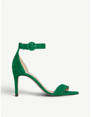 LK Bennett Dora two-part suede heeled sandals