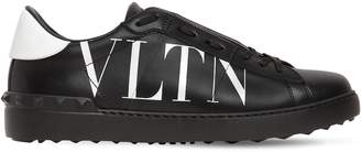 Valentino Logo Leather Sneakers W/ Studs