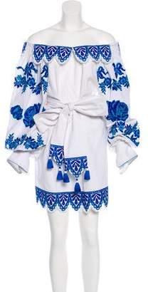 Yuliya Magdych Linen Mini Dress