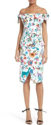 Women's Milly Folkloric Print Poplin Dress $395 thestylecure.com