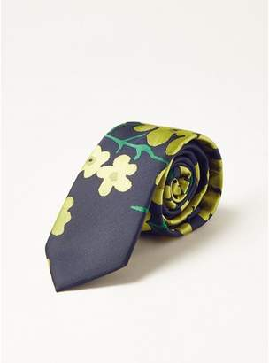Topman Mens Navy Blossom Jacquard Tie