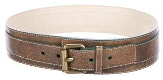 Marc by Marc Jacobs Leather Buckle Belt