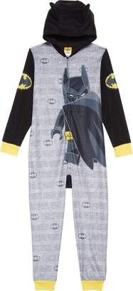 Lego HATCHIMALS Batman Fitted One-Piece Hooded Pajamas