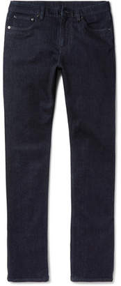 Ermenegildo Zegna Slim-Fit Garment-Washed Stretch-Denim Jeans - Men - Dark denim