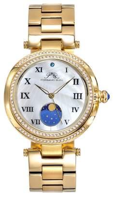 Porsamo Bleu Women's South Sea Crystal Moon Phase Bracelet Watch, 40mm