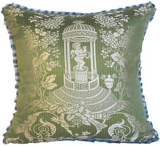 One Kings Lane Vintage Silk Damask Pillow - Mary Jane McCarty Design