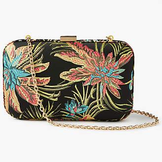 John Lewis Stella Tropical Print Clutch Bag, Multi