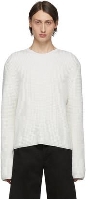 Bottega Veneta Off-White Waffle Knit Sweater