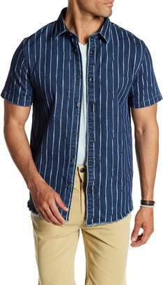 Threads 4 Thought Striped Frayed Denim Regular Fit Shirt