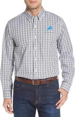 Cutter & Buck Detroit Lions - Gilman Regular Fit Plaid Sport Shirt