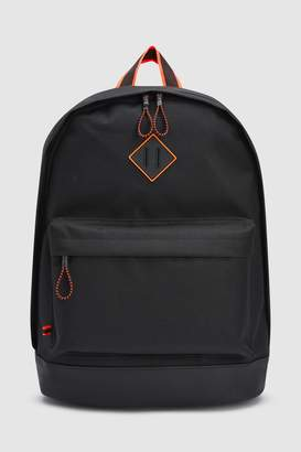 Mens Black/Orange Rucksack