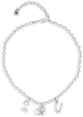 Uno de 50 Love Through Arts Bead Chain Pendant Necklace