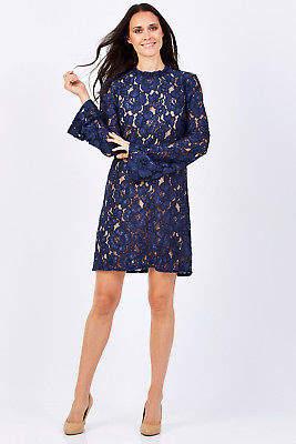 NEW Fate + Becker Womens Short Dresses Claudine Dress Ink