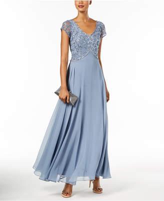 J Kara Embellished-Bodice Gown