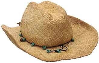 Scala Women's Straw Cowboy Hat