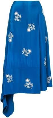 Erdem floral-embroidered wrap skirt