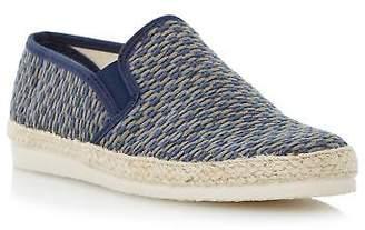 Dune Mens FRESHMAN Woven Espadrille Shoe in Blue Size UK 6