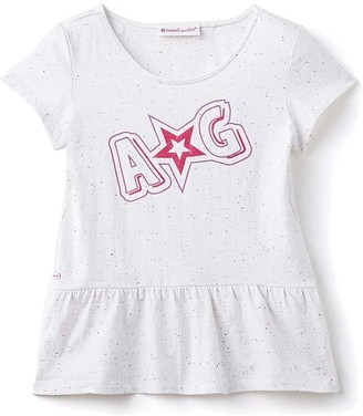 Truly Me American Girl Peplum T-Shirt Star Extra Small