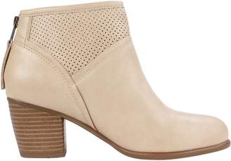 White Mountain Stacked Heel Ankle Boots - Galveston