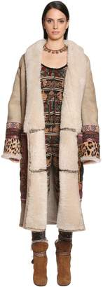 Etro Embellished Shearling Long Coat