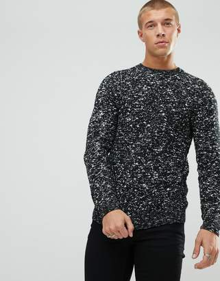 New Look Sweater With Marl Knit In Black