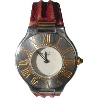 Cartier Vintage Must 21 Red Steel Watches