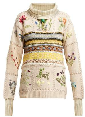 Preen by Thornton Bregazzi Marion Fair Isle Knitted Sweater - Womens - Ivory Multi
