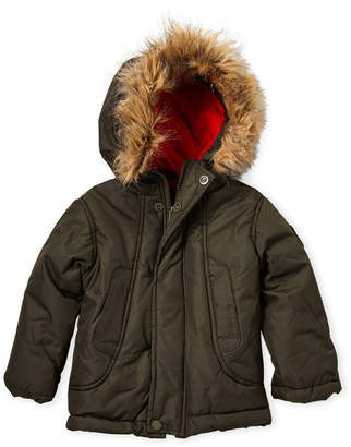 Ben Sherman Toddler Boys) Olive Faux Fur-Trimmed Coat