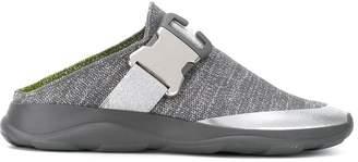Christopher Kane knitted safety buckle slide sneaker
