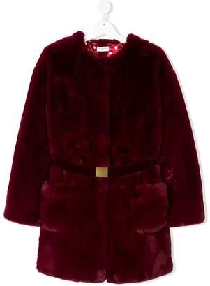 MonnaLisa TEEN faux fur coat