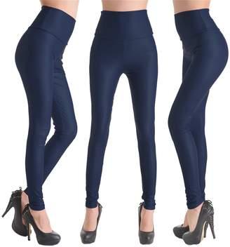 Celine lin Women's PU Leather High Waist Leggings Stretch Pants,S