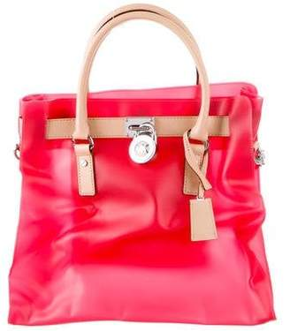 MICHAEL Michael Kors Leather-Trimmed Hamilton Tote