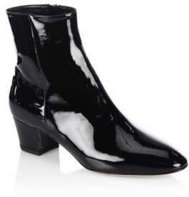 Gianvito Rossi Patent Leather Block Heel Booties
