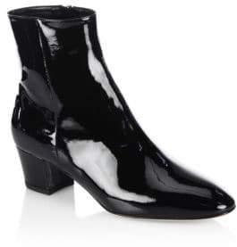 Gianvito Rossi Patent Leather Block Heel Booties