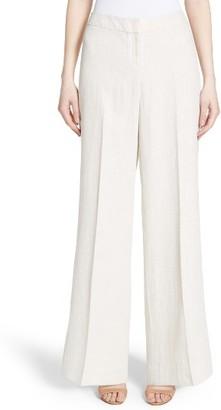 Women's Lafayette 148 New York Kenmare Wide Leg Linen Pants $448 thestylecure.com