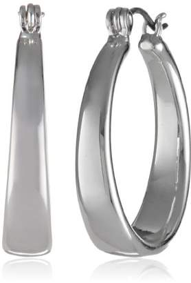 "Nine West Classics"" -Tone Medium Hoop Earrings"