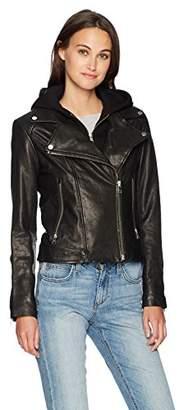 Soia & Kyo Women's Allison Leather Moto Jacket