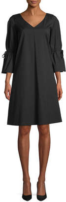Lafayette 148 New York Riley Stretch V-Neck A-Line Dress
