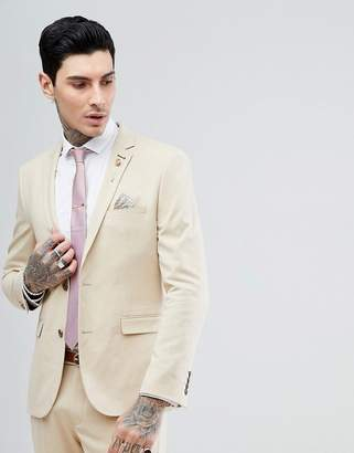 Harry Brown Biscuit Stretch Skinny Fit Suit Jacket