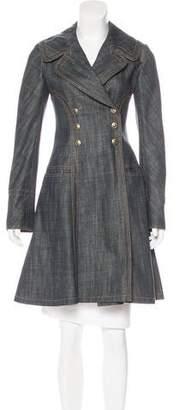 Alaia Knee-Length Denim Coat