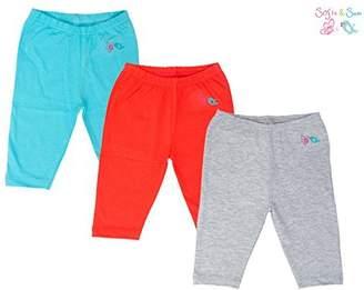 SAM. Sofie & Organic Cotton 3 pack Combo Baby Pajama - Sea Blue, Dark Peach & Grey